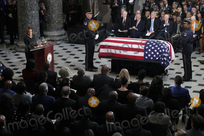"Elijah Cummings, Nancy Pelosi, Representative Nancy Pelosi, The Unit, Alex Wong Photo - Speaker of the United States House of Representatives Nancy Pelosi (Democrat of California) gives remarks next to the flag-draped casket of US Representative Elijah Cummings (Democrat of Maryland) as the late congressman lies in state during a memorial service at the Statuary Hall of the U.S. Capitol October 24, 2019 in Washington, DC. Rep. Cummings passed away on October 17, 2019 at the age of 68 from ""complications concerning longstanding health challenges."" 