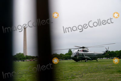 Jill Biden, Joe Biden, Marine One, White House, The White Photo - Marine One, carrying U.S. President Joe Biden and First Lady Jill Biden prepares to take off from the Ellipse of the White House in Washington, D.C., U.S., on Monday, May 3, 2021. Biden's $4 trillion vision of remaking the federal government's role in the U.S. economy is now in the hands of Congress, where both parties see a higher chance of at least some compromise than for the administrations pandemic-relief bill. Credit: Erin Scott / Pool via CNP/AdMedia