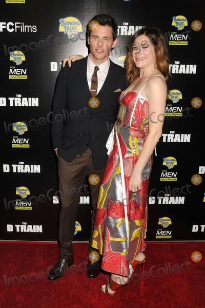 "James Marsden, Kathryn Hahn, Train Photo - 27 April 2015 - Hollywood, California - James Marsden, Kathryn Hahn. ""D Train"" Los Angeles Premiere held at Arclight Cinemas. Photo Credit: Byron Purvis/AdMedia"
