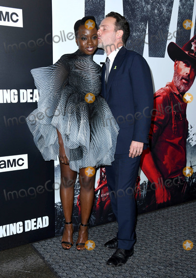 "Andrew Lincoln, Danai Gurira Photo - 27 September 2018 - Hollywood, California - Danai Gurira, Andrew Lincoln. ""The Walking Dead"" Season 9 Premiere Los Angeles  held at DGA Theater. Photo Credit: Birdie Thompson/AdMedia"