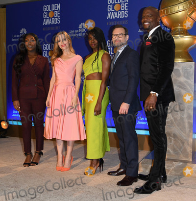 Photo - 06 December 2018 - Beverly Hills, California - Isan Elba, Leslie Mann, Danai Gurira, Christian Slater, Terry Crews. 76th Annual Golden Globe Nominations Announcement held at the Beverly Hilton Hotel. Photo Credit: Birdie Thompson/AdMedia