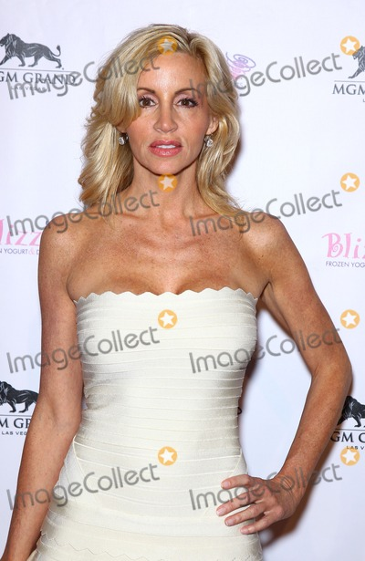 Camille Grammer Photo - 14 January 2012 - Las Vegas, Nevada - Camille Grammer.  The Real Housewives of Beverly Hills walk the red carpet in celebration of the grand opening of the newest Blizz Frozen Yogurt at the MGM Grand  Resort Hotel and Casino.  Photo Credit: MJT/AdMedia