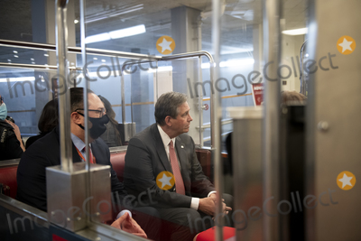 Train Photo - Defense lawyer for former President Donald J. Trump Bruce Castor sits in a Senate subway train car, after the U.S. Senate voted 57-43 to acquit former President Donald J. Trump on an impeachment charge of inciting the attack on the U.S. Capitol on January 6, 202, at the U.S. Capitol in Washington, DC, Saturday, February 13, 2021. Credit: Rod Lamkey / CNP/AdMedia