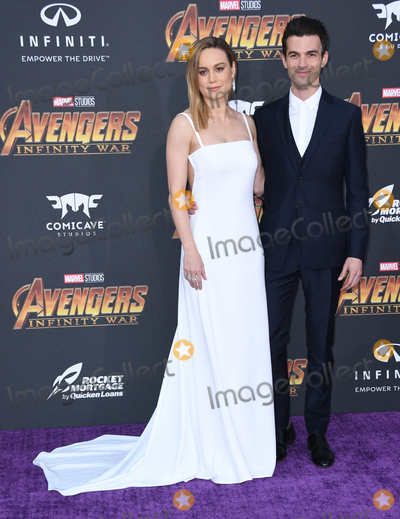 """Alex Greenwald, Brie Larson Photo - 23 April 2018 -  Hollywood, California - Brie Larson, Alex Greenwald. Disney and Marvel's """"Avengers: Infinity War"""" Los Angeles Premiere held at Dolby Theater. Photo Credit: Birdie Thompson/AdMedia"""