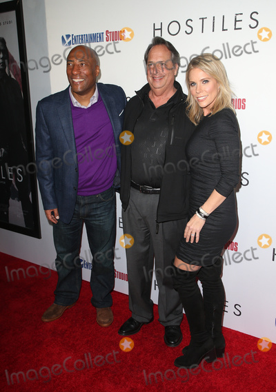 "Byron Allen, Cheryl Hines, Jon Lovitz, Samuel Goldwyn Photo - 14 December 2017 - Beverly Hills, California - Byron Allen, Jon Lovitz, Cheryl Hines. ""Hostiles"" Los Angeles Premiere held at Samuel Goldwyn Theater. Photo Credit: F. Sadou/AdMedia"