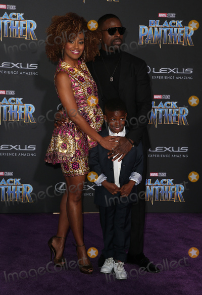 """Andrew Brown, Ryan Michelle Bathe, Black Panther Photo - 29 January 2018 - Hollywood, California - Ryan Michelle Bathe, Sterling K. Brown, Andrew Brown. Marvel Studios' """"Black Panther"""" World Premiere held at Dolby Theater. Photo Credit: F. Sadou/AdMedia"""