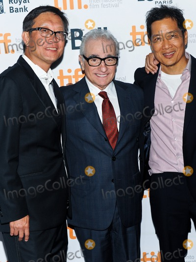 """Justin Chon, Andrew Lau, Andrew Loo Photo - 10 September 2014 - Toronto, Canada - Andrew Lau, Justin Chon, Andrew Loo. """"Revenge Of The Green Dragons"""" Premiere during the 2014 Toronto International Film Festival held at the Ryerson Theatre. Photo Credit: Brent Perniac/AdMedia"""