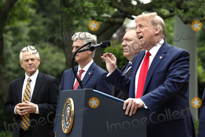 Donald Trump, White House, The White, Mike Pompeo, Peter Navarro Photo - United States President Donald J. Trump delivers remarks on China in the Rose Garden at the White House in Washington, DC on May 29, 2020. Pictured from left to right; Peter Navarro, Director of Trade and Industrial Policy and Director of the White House National Trade Council; US National Security Advisor Robert C. O'Brien; US Secretary of State Mike Pompeo; and the president.