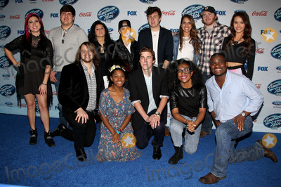 "Majesty Rose, Caleb Johnson, Sam Woolf, Jena Irene, Emily Piriz, Malaya Watson, Kristen O'Connor, C.J. Harris, Ben Briley, MK Nobilette, Alex Preston, Jessica Meuse, Dexter Roberts Photo - 20 February 2014 - West Hollywood, California - Top 13 Finalists, Alex Preston, Ben Briley, Caleb Johnson, C.J. Harris, Dexter Roberts, Emily Piriz, Jena Irene, Jessica Meuse, Kristen O'Connor, Majesty Rose, Malaya Watson, MK Nobilette, Sam Woolf. Fox's ""American Idol XIII"" Finalists Party held at Fig & Olive Melrose Place. Photo Credit: F. Sadou/AdMedia"