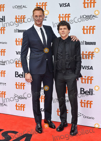 "Jesse Eisenberg, Princess of Wales, Wale, Alexander Skarsgrd Photo - 08 September 2018 - Toronto, Ontario, Canada - Alexander Skarsgrd, Jesse Eisenberg. ""The Hummingbird Project"" Premiere - 2018 Toronto International Film Festival held at the Princess of Wales Theatre. Photo Credit: Brent Perniac/AdMedia"