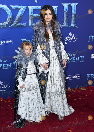 "Gomez, Selena Gomez Photo - 07 November 2019 - Hollywood, California - Gracie Teefey, Selena Gomez. Disney's ""Frozen 2"" Los Angeles Premiere held at Dolby Theatre. Photo Credit: Birdie Thompson/AdMedia"
