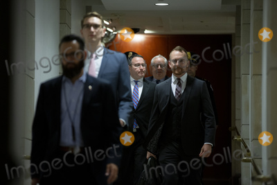 Alexander Vindman, The National Photo - Lieutenant Colonel Alexander Vindman, a military officer at the National Security Council, center, arrives at the U.S. Capitol on Thursday, November 7, 2019 to review transcripts from his closed-door testimony before House committees on Tuesday, October 29, 2019 on Capitol Hill in Washington D.C., U.S.  Credit: Stefani Reynolds / CNP/AdMedia