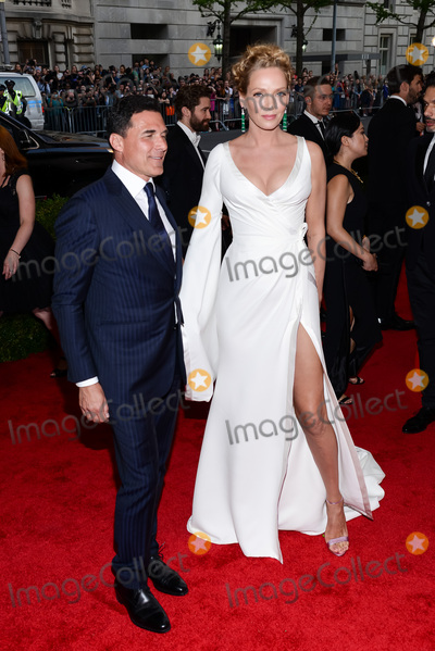 "Andre Balazs, Christopher Smith, Uma Thurman, Andr Balazs, André Balazs Photo - 04 May 2015 - New York, New York- Andre Balazs, Uma Thurman. ""China: Through The Looking Glass"" Costume Institute Gala at The Metropolitan Museum of Art. Photo Credit: Christopher Smith/AdMedia"