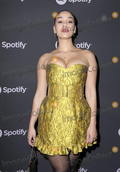 "Jorja Smith Photo - 07 February 2019 - Westwood, California - Jorja Smith. Spotify ""Best New Artist 2019"" Event held at Hammer Museum. Photo Credit: PMA/AdMedia"