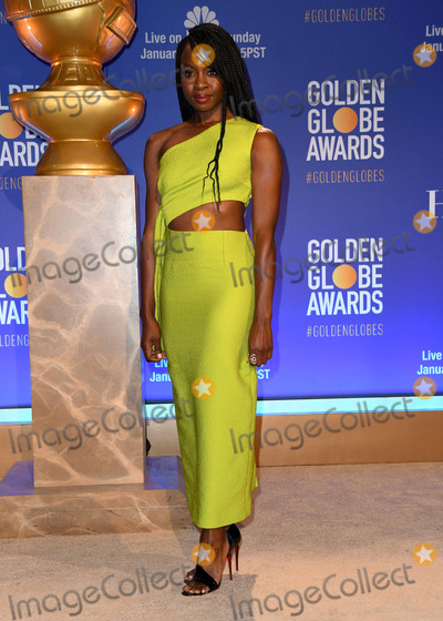 Danai Gurira Photo - 06 December 2018 - Beverly Hills, California - Danai Gurira. 76th Annual Golden Globe Nominations Announcement held at the Beverly Hilton Hotel. Photo Credit: Birdie Thompson/AdMedia