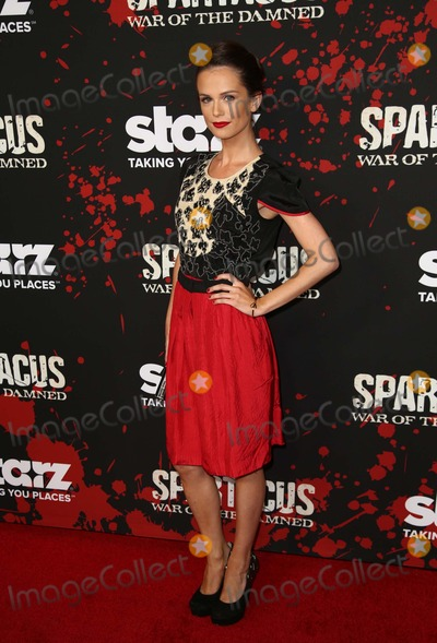 Photos And Pictures  Los Angeles California Gwendoline Taylor Premiere Of Starzs Spartacus War Of The Damned Held At Regal
