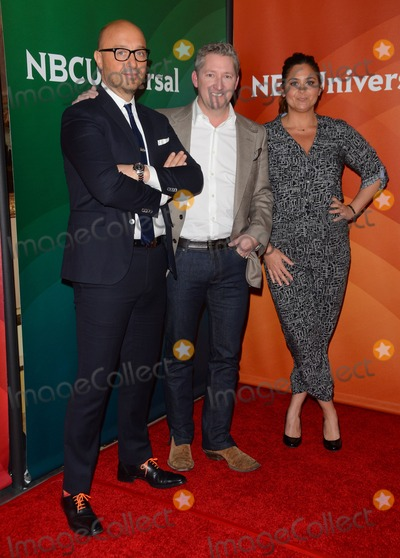 Antonia Lofaso, Joe Bastianion, Tim Love Photo - 15 January 2015 - Pasadena, California - Joe Bastianion, Tim Love, Antonia Lofaso. NBCUniversal 2015 TCA Press Tour held at The Langham Huntington Hotel. Photo Credit: Birdie Thompson/AdMedia