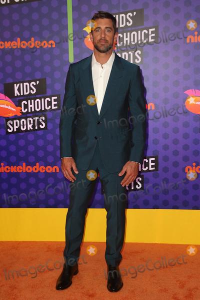 Aaron Rodgers Photo - 19 July 2018 - Santa Monica, California - Aaron Rodgers. Nickelodeon Kids' Choice Sports Awards 2018 held at Barker Hangar. Photo Credit: Faye Sadou/AdMedia