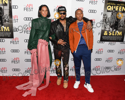 """Audy, Queen, The-Dream, The Dream, TCL Chinese Theatre, Lena Waithe, Melina Matsoukas Photo - 14 November 2019 - Hollywood, California - Melina Matsoukas, The_Dream, Lena Waithe. AFI FEST 2019 Presented By Audi  """"Queen & Slim"""" Premiere held at TCL Chinese Theatre. Photo Credit: Billy Bennight/AdMedia"""