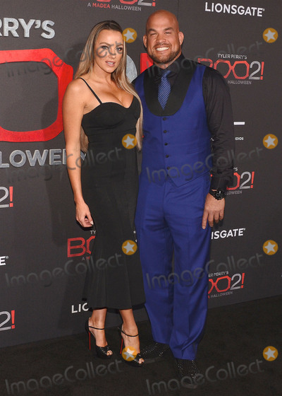 "Amber Nicole, Nicole Miller, Tito Ortiz, Tyler Perry Photo - 16 October 2017 - Los Angeles, California - AMBER NICOLE MILLER AND TITO ORTIZ. ""Tyler Perry's Boo 2! A Madea Halloween"" Los Angeles Premiere held at Regal LA Live Stadium 14. Photo Credit: Billy Bennight/AdMedia"
