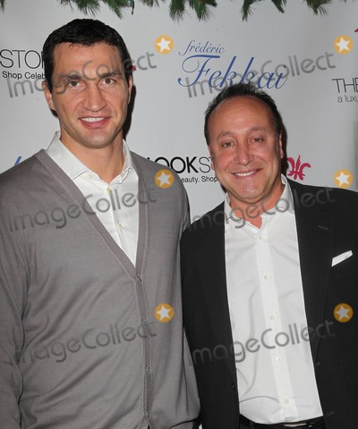 """Alan Mruvka, Vladmir Klitchsko Photo - 4 December 2012 - West Hollywood, California - Vladmir Klitchsko, Alan Mruvka. Holiday party Introducing """"Jus D'Amour Perfume and The Look Bag"""" Hosted by Fredric Fekkai Salon Held at Fredric Fekkai Salon. Photo Credit: Kevan Brooks/AdMedia"""