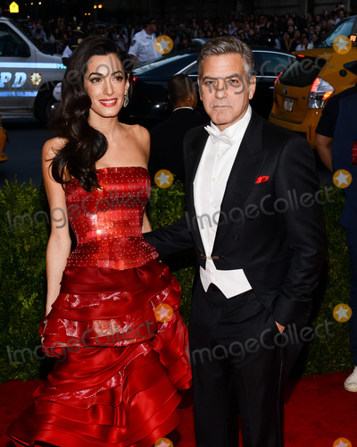 "Christopher Smith, George Clooney, Amal Clooney Photo - 04 May 2015 - New York, New York- Amal Clooney, George Clooney. ""China: Through The Looking Glass"" Costume Institute Gala at The Metropolitan Museum of Art. Photo Credit: Christopher Smith/AdMedia"