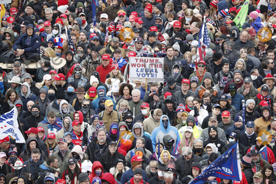 Joe Biden Photo - Supporters as US President Donald J. Trump delivers remarks to supporters gathered to protest Congress' upcoming certification of Joe Biden as the next president on the Ellipse in Washington, DC, USA, 06 January 2021. Various groups of Trump supporters are gathering to protest as Congress prepares to meet and certify the results of the 2020 US Presidential election.