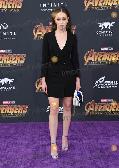 "Alycia Debnam-Carey Photo - 23 April 2018 -  Hollywood, California - Alycia Debnam Carey. Disney and Marvel's ""Avengers: Infinity War"" Los Angeles Premiere held at Dolby Theater. Photo Credit: Birdie Thompson/AdMedia"