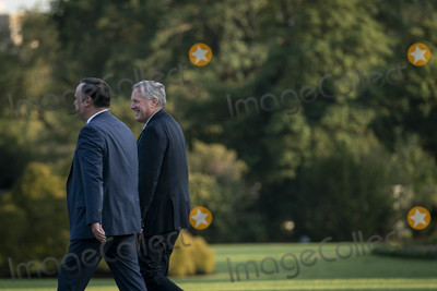 Donald Trump, Marine One, White House, The White, Mark Meadows, Dan Scavino Photo - White House Chief of Staff Mark Meadows, right, and Dan Scavino, Assistant to the President and Deputy Chief of Staff for Communications, walk along the South Lawn to join President Donald Trump on Marine One as they depart the White House for a rally in Pennsylvania, on Tuesday, September 22, 2020 in Washington DC.      Credit: Sarah Silbiger / Pool via CNP/AdMedia