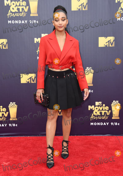 Amandala Stenberg Photo - 16 June 2018 - Santa Monica, California - Amandala Stenberg. 2018 MTV Movie and TV Awards held at  Barker Hangar. Photo Credit: Birdie Thompson/AdMedia