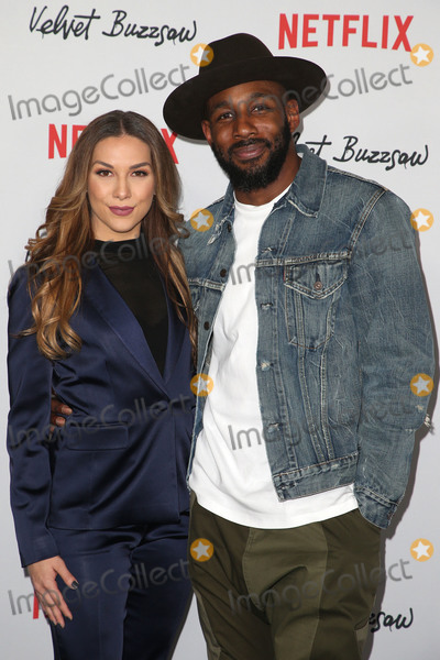 "Stephen Boss, Allison Holker, MIGUEL BOSÉ Photo - 28 January 2019 - Hollywood, California - Allison Holker, Stephen Boss. Premiere Screening Of ""Velvet Buzzsaw"" held at The Egyptian Theatre. Photo Credit: Faye Sadou/AdMeda"