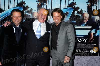 "Andy Garcia, Jerry Weintraub, Matt Damon Photo - 22 March 2011 - Los Angeles, California - Andy Garcia, Jerry Weintraub and Matt Damon. HBO's ""His Way"" Los Angeles Premiere held at Paramount Studios. Photo: Byron Purvis/AdMedia"