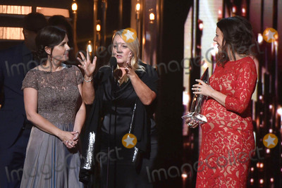 Kenna, CMA Award, Hillary Lindsey Photo - 4 November 2015 - Nashville, Tennessee - Liz Rose, Hillary Lindsey, Lori McKenna. 49th CMA Awards, Country Music's Biggest Night, held at Bridgestone Arena. Photo Credit: Laura Farr/AdMedia