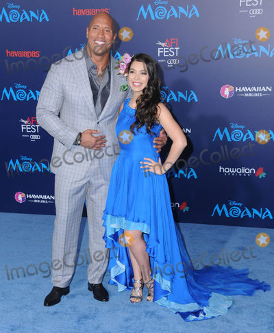 "Audy, Dwayne Johnson, THE ROCK, Aulii Cravalho, Auli'i Cravalho Photo - 14 November 2016 - Hollywood, California. Dwayne Johnson, The Rock, Auli'i Cravalho. AFI FEST 2016 Presented By Audi - Premiere Of Disney's ""Moana"" held at TCL Chinese Theater. Photo Credit: Birdie Thompson/AdMedia"