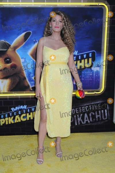 "Blake Lively Photo - 02 May 2019 - New York, New York - Blake Lively at the U.S. Premiere of ""Pokmon Detective Pikachu"" on the Military Island in Times Square. Photo Credit: LJ Fotos/AdMedia"