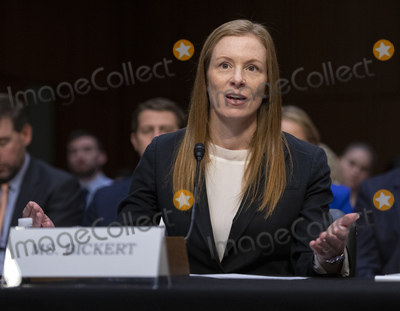 """Monika Bickert, The Unit Photo - Monika Bickert, Head of Global Policy Management, Facebook, testifies before the United States Senate Committee on Commerce, Science and Transportation on """"Mass Violence, Extremism, and Digital Responsibility"""" on Capitol Hill in Washington, DC on Wednesday, September 18, 2019. Photo Credit: Ron Sachs/CNP/AdMedia"""