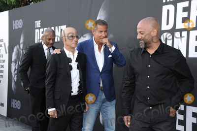 """Allen Hughes, Dr Dre, Dr. Dre, Dres, Jimmy Iovine, Richard Plepler, Hüsker Dü Photo - 22 June 2017 - Hollywood, California - Dr. Dre, Jimmy Iovine, Richard Plepler, Allen Hughes. HBO's """"The Defiant Ones"""" Los Angeles premiere held at Paramount Theater in Hollywood. Photo Credit: Birdie Thompson/AdMedia"""