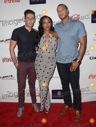 Nick Hounslow, Nichelle Hines, Aaron Hines Photo - 29 August 2015 - Beverly Hills, California - Nick Hounslow, Nichelle Hines, Aaron Hines. Arrivals for the Children Uniting Nations and National Coalition Against Domestic Violence Benefit held at a Private Residence. Photo Credit: Birdie Thompson/AdMedia