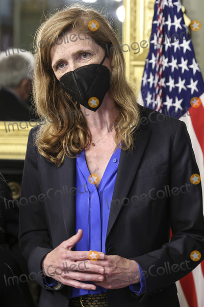 Samantha Power, The Unit Photo - Samantha Power, administrator of the United States Agency for International Development (USAID), speaks during a swearing in ceremony in the Eisenhower Executive Office Building in Washington, D.C., U.S., on Monday, May 3, 2021. The Senate confirmed Power, who was an ambassador to the United Nations during the Obama administration, on April 28.Credit: Oliver Contreras / Pool via CNP/AdMedia