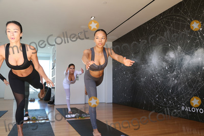 Adrienne Bailon, Draya Michele, Draya Michelle Photo - 31 March 2017 - Beverly Hills, California - Draya Michele, Serayah McNeill, Adrienne Eliza Houghton, Adrienne Bailon. Draya Michele and Friends at AloYoga. Photo Credit: AdMedia