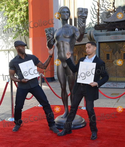 Aldis Hodge, Aldis Hodges Photo - 26 January  - Hollywood, Ca - Aldis Hodge, Neil Brown Jr.. SAG Awards Actor visits Hollywood's TCL Chinese Theater with SAG Awards nominees Aldis Hodge and Neil Brown Jr. held at TCL Chinese Theater . Photo Credit: Birdie Thompson/AdMedia