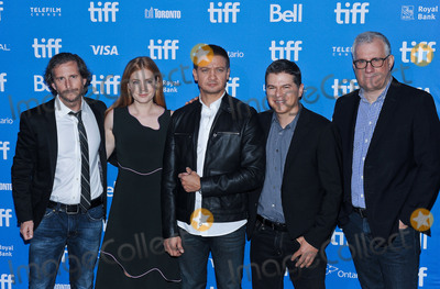 """Aaron Ryder, Amy Adams, David Linde, Jeremy Renner Photo - 12 September 2016 - Toronto, Ontario Canada - Aaron Ryder, Amy Adams, Jeremy Renner, Dan Levine and David Linde. """"Arrival"""" Photocall during the 2016 Toronto International Film Festival held at TIFF Bell Lightbox. Photo Credit: Brent Perniac/AdMedia"""