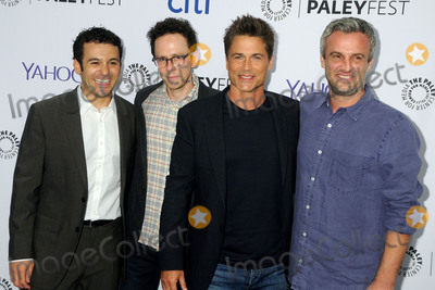 """Fred Savage, Rob Lowe, Jarrad Paul, Andrew Mogel Photo - 15 September 2015 - Beverly Hills, California - Fred Savage, Jarrad Paul, Rob Lowe, Andrew Mogel. 2015 PaleyFest Fall TV Preview - """"The Grinder"""" held at The Paley Center. Photo Credit: Byron Purvis/AdMedia"""