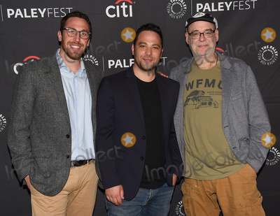 """Ben Newmark, Dan Newmark, Andy Breckman Photo - 13 September 2019 - Beverly Hills, California - (L-R) Dan Newmark, Ben Newmark and Andy Breckman. """"The Misery Index"""" at The Paley Center For Media's 13th Annual PaleyFest Fall TV Previews - TBS. Photo Credit: Billy Bennight/AdMedia"""