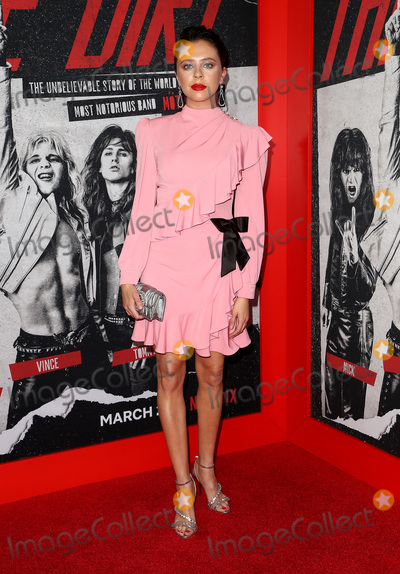 """Bel Powley Photo - 18 March 2019 - Hollywood, California - Bel Powley. Netflix's """"The Dirt"""" World Premiere held at The Wolf Theatre at The ArcLight Cinemas Cinerama Dome. Photo Credit: Faye Sadou/AdMedia"""