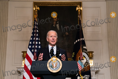 Joe Biden, White House, The White Photo - United States President Joe Biden delivers remarks on his administrations response to climate change at an event in the State Dining Room of the White House in Washington DC, January 27th, 2021.Credit: Anna Moneymaker / Pool via CNP/AdMedia