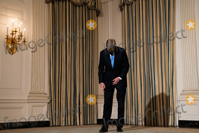 Joe Biden, John Kerry, The Specials, White House, The White Photo - John Kerry, the Special Presidential Envoy for Climate, waits for the start of an event on President Joe Bidens administrations response to climate change in the State Dining Room of the White House in Washington DC, January 27th, 2021. (Anna Moneymaker/NYT) Credit: Anna Moneymaker / Pool via CNP/AdMedia