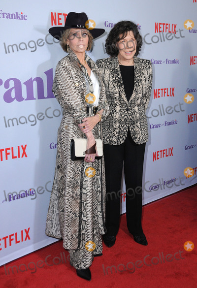 "Jane Fonda, Lily Tomlin Photo - 18 January 2018 - Culver City, California - Jane Fonda, Lily Tomlin. Netflix's ""Grace and Frankie"" Season 4 Special Screening held at Arclight Culver City . Photo Credit: Birdie Thompson/AdMedia"