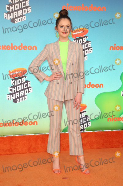 Olivia Sanabia Photo - 23 March 2019 - Los Angeles, California - Olivia Sanabia. 2019 Nickelodeon Kids' Choice Awards held at The USC Galen Center. Photo Credit: Faye Sadou/AdMedia