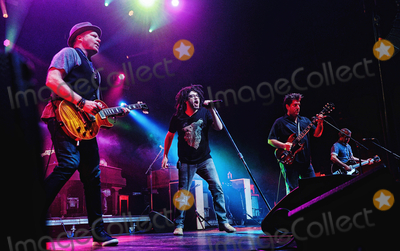 Counting Crows, Adam Duritz, Counting Crowes, Dan Vickrey, David Bryson Photo - 12 May 2015 - Hamilton, Ontario, Canada.  Dan Vickrey (guitarist), Adam Duritz (vocalist), David Immergluck (guitarist) and David Bryson (guitarist) of Counting Crows perform on stage at Hamilton Place Theatre. Photo Credit: Brent Perniac/AdMedia